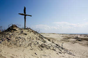 Cross in a Sand Dune