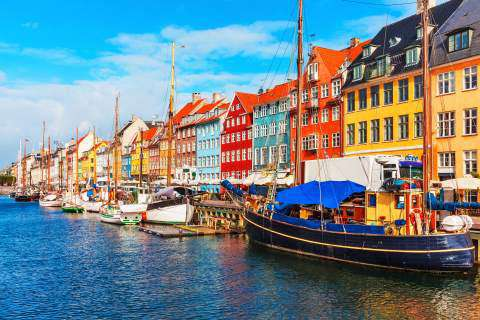 Nyhavn Harbour, Old Town Copenhagan