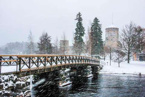 Olavinlinna Castle in Savonlinna, Finland