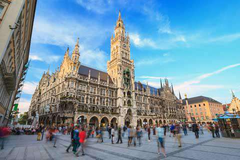 Marienplatz Town Hall, Munich, Germany