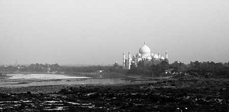 The view of the Taj Mahal from Agra Fort, Agra, India
