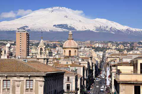 Catania and Mt. Etna