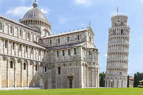 The Cathedral and Leaning Tower of Pisa, Italy