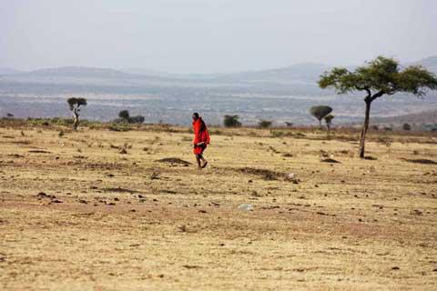 A Masai Warrior near Masai Mara National Park