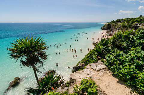 The beach of Tulum, Mexico