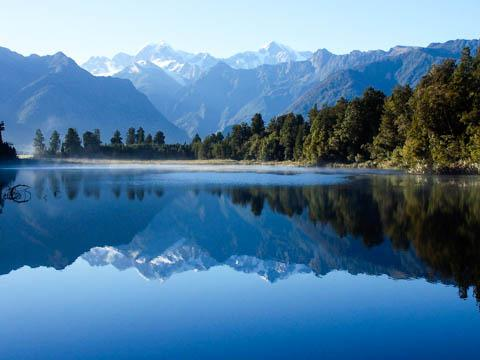 Mirror Lake, Fiordland National Park, New Zealand