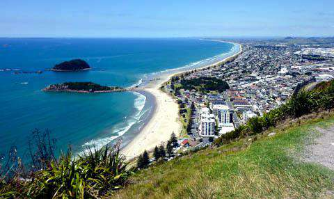 The view from The Mount, Tauranga, New Zealand