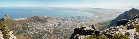 The view from Table Mountain, Cape Town