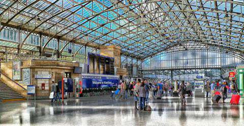 Aberdeen Train Station, Scotland, United Kingdom