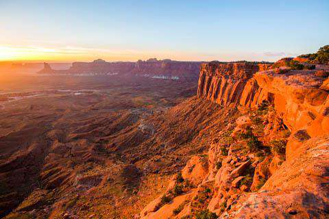 Sunset at Canyonlands National Park near Moab, Utah