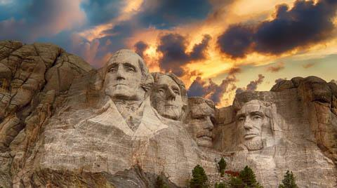 Mount Rushmore, near Rapid City, South Dakota