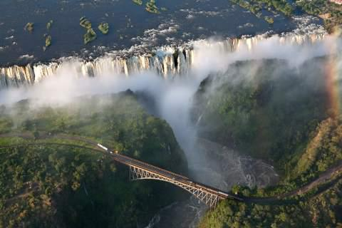 Victoria Falls, on the Zambia-Zimbabwe border