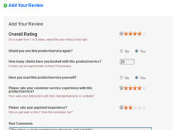 Supplier Reviews