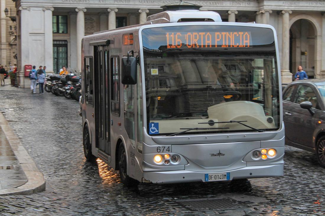 Public bus in Rome, Italy