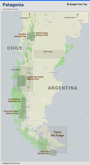 Regions of Patagonia