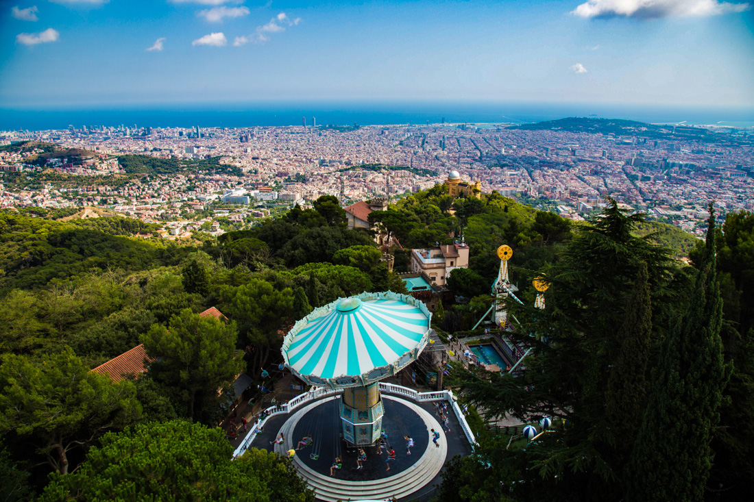 Tibidabo Mountain, Barcelona, Spain