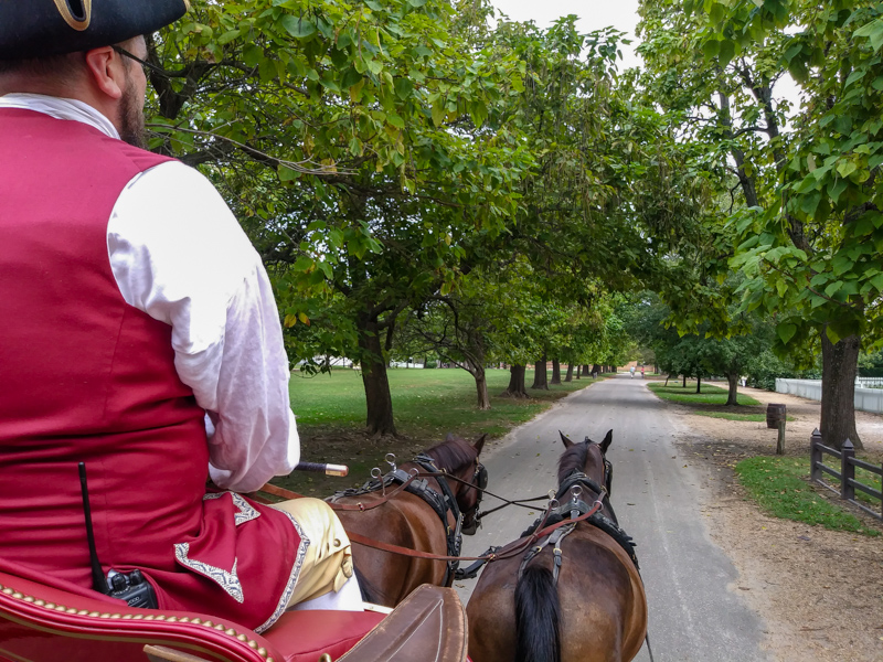Carriage ride at Williamsburg, Virginia