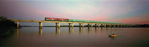 The Ghan, near Darwin (Great Southern Rail)