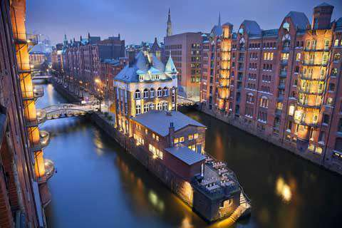 The Speicherstadt in Hamburg, Germany