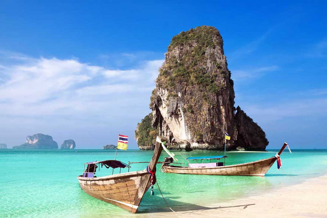 Railay Beach Travel Costs Prices Phra Nang Caves Ton Sai Rock Clibming Budgetyourtrip