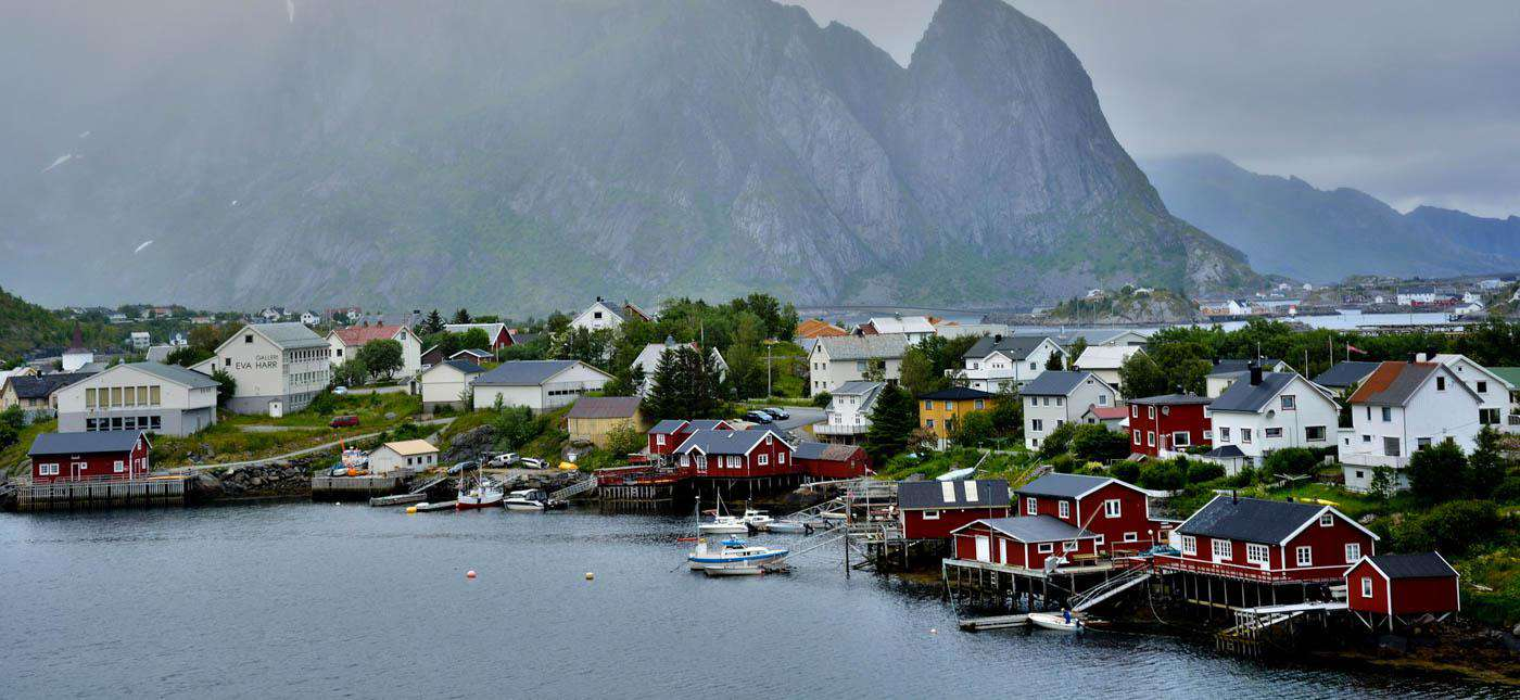 A fishing village in the Lofoten Islands, Norway