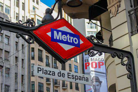 Madrid, Metro Station Sign