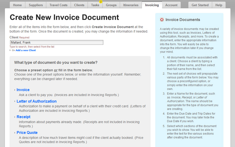 Travel Invoices | Easy Invoicing Software For Travel Agents Byt Agent
